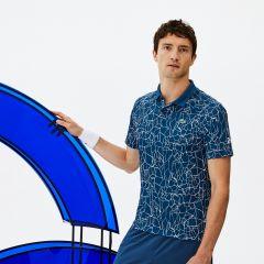 Mens SPORT Print Technical Jersey Polo - Lacoste x Novak Djokovic On Court Premium Edition