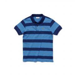 Boys Striped Cotton Jersey Polo