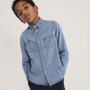 Boys Cotton Denim Shirt
