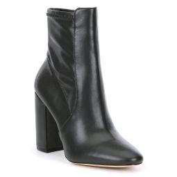 Aurella Leather Block Heel Booties