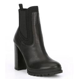 Elrudien Leather Chelsea Lug Hiker Booties