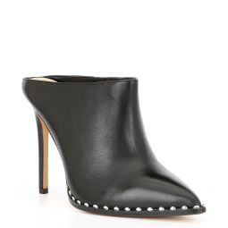Gwelisa Smooth Studded Leather Mules