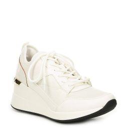 Thrundra Mixed Media Wedge Sneakers