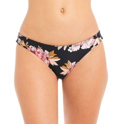Mellow Luv Reversible Striped Floral Print Lowrider Swimsuit Bottom