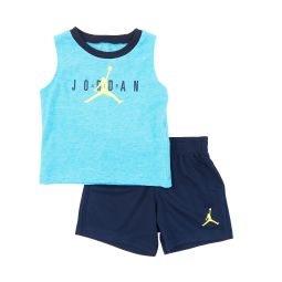 Baby Boys 12-24 Months Half Court Muscle Tank & Shorts Set