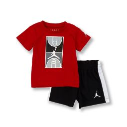 Baby Boys 12-24 Months Short-Sleeve Court Graphic Tee & Shorts Set