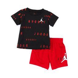 Baby Boys 12-24 Months Short-Sleeve Floater Tee & Mesh Shorts Set
