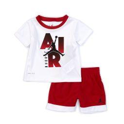 Baby Boys 12-24 Months Short-Sleeve JSW Iconic Logo Tee & Mesh Short Set