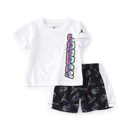 Baby Boys 12-24 Months Short-Sleeve Sublimation Tee & Jumpman-Printed Shorts Set