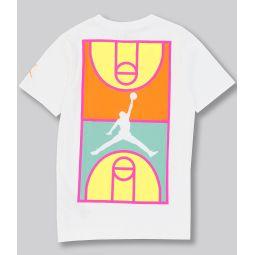 Big Boys 8-20 Short-Sleeve Basketball Court Graphic Tee