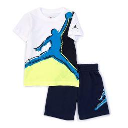 Little Boys 2T-7 Painted Jumpman Muscle Tank & Shorts Set