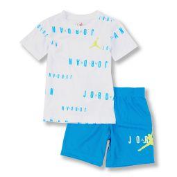 Little Boys 2T-7 Short-Sleeve Jordan Floater Tee & Shorts Set