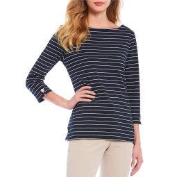 Stripe Knit Jersey Boatneck 3