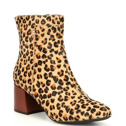 Emmy Leopard Faux Haircalf Booties