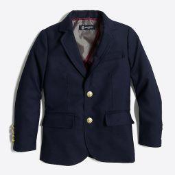 Boys gold-button blazer