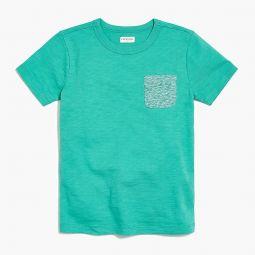 Boys contrast-pocket t-shirt