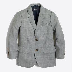 Boys Thompson suit jacket in wrinkle-resistant wool