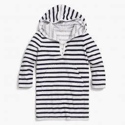 Girls printed hooded terry cover-up