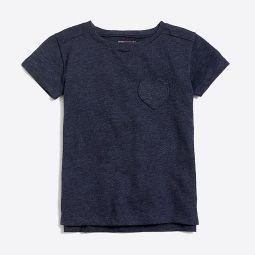 Girls heart pocket T-shirt