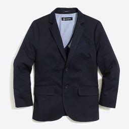 Boys Thompson suit jacket in flex chino