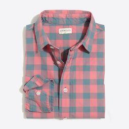 Boys long-sleeve flex patterned washed shirt