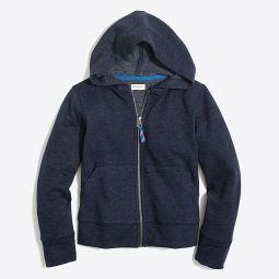 Kids long-sleeve full-zip hoodie with contrast cord
