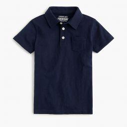 Boys extra-soft slub cotton polo shirt