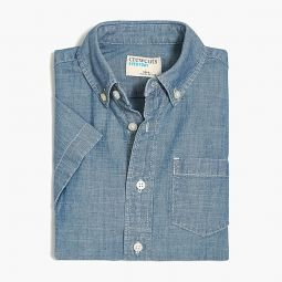 Boys short-sleeve chambray shirt