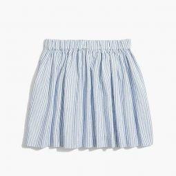Girls seersucker skirt