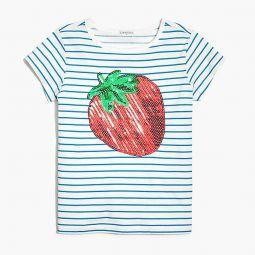 Girls strawberry graphic T-shirt