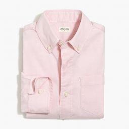 Boys long-sleeve flex washed solid shirt