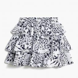 Girls tiered skirt in pineapple print