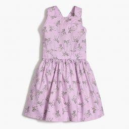 Girls apron dress in zebra print