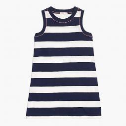 Girls rugby-stripe dress