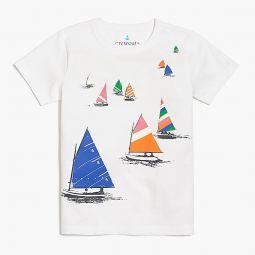 Boys sailboats graphic T-shirt
