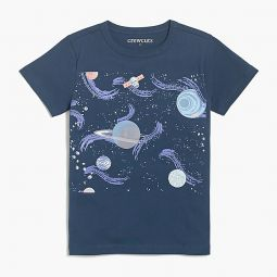 Boys glow-in-the-dark space graphic T-shirt
