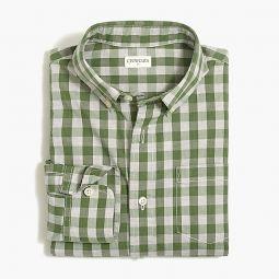 Boys long-sleeve flex washed shirt in gingham