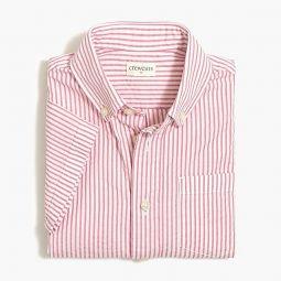 Boys short-sleeve shirt in seersucker