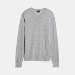 V-Neck Sweater in Regal Wool