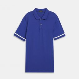 Line Polo Shirt in Function Pique