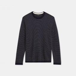 Crewneck Sweater in Striped Merino Wool