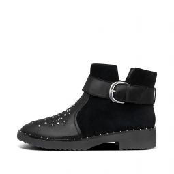 Womens Athena Suede-Leather Ankle-Boots