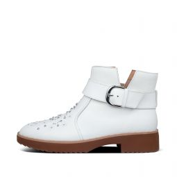 Womens Athena Leather Ankle-Boots