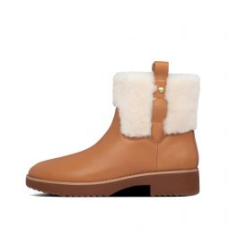 Womens Mimie Leather-Shearling Boots