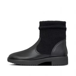 Womens Nisse Leather-Wool Boots