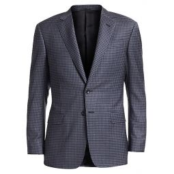 Blue District Check Wool Sport Coat