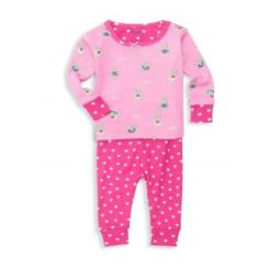 Baby Girls Two-Piece Princess Frog Organic Cotton Top & Bottom Set