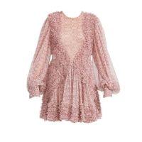Ditsy Floral Silk Ruffle Dress