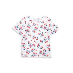 Girls Cherry-Print Top
