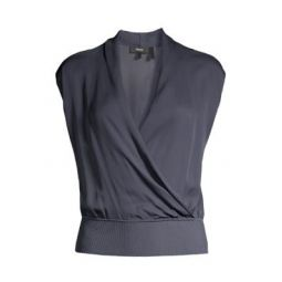 Draped Combo Silk Top